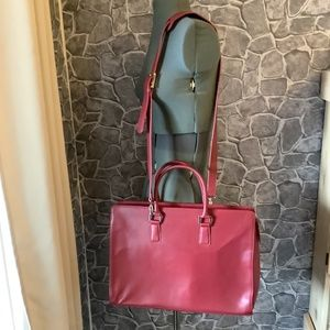 Franklin Covey Red Leather Carryall #30281.455